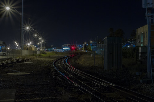 light red colour night canon track rail trainstation 7d fremantle westernaustralia 1740 f4l