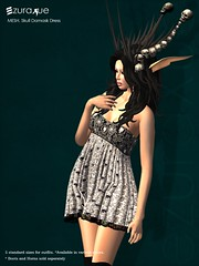 ezura + MESH . Skull Damask Dress