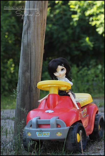 Winnie driven a car