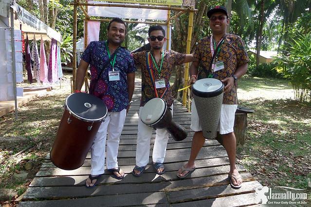 Drum-circle-facilitators---Sam-Kumar-(right)