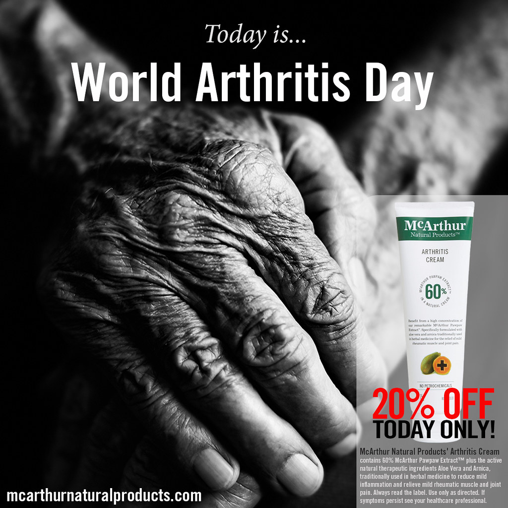 Today is World Arthritis Day – Save 20% on Arthritis Cream… | Flickr