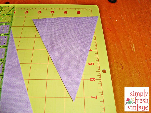Quick & Easy Bunting ... Step 6