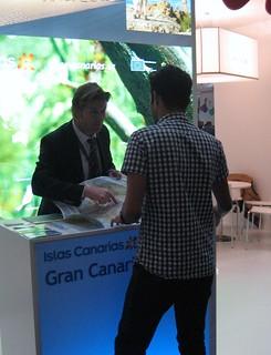 Jorge Kahr, de turismo de Gran Canaria, en plena labor.