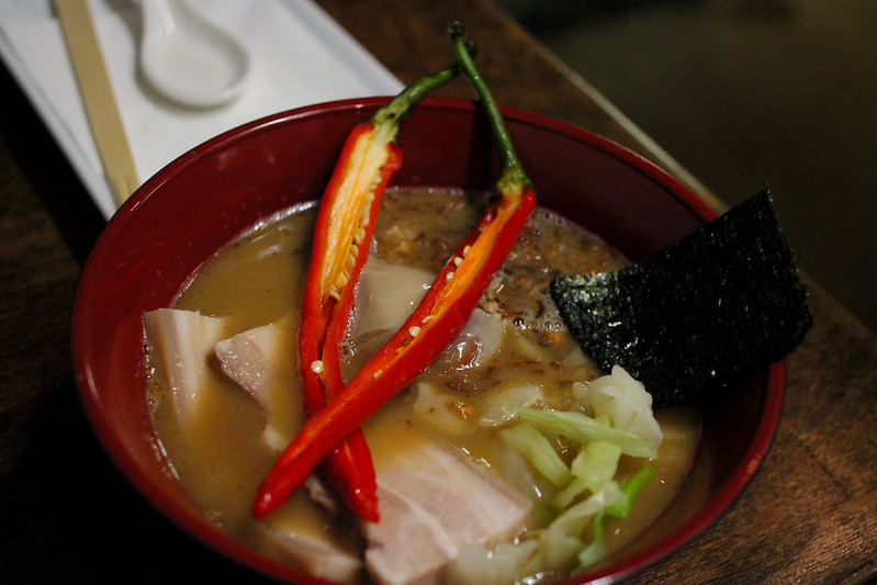 Monday, May 6: The chefs at Pickle had a pop up ramen shop. Delicious tonkotsu ramen, soft pork belly, pickled chili, and marinated egg.