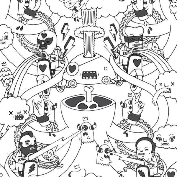 ilustracion sobre pared