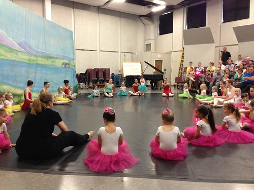 Scenes From Lucy's Ballet Recital: The Warm-Up and Performance by carolinearmijo