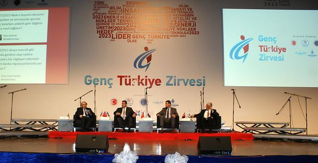 Rektör Tarhan Genç Türkiye Zirvesi'nde gençlerle buluştu