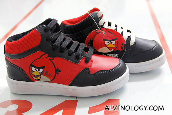 Swanky Angry Birds' shoes, produced for export