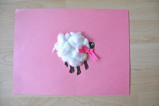 Handprint Sheep Collage CottonBalls