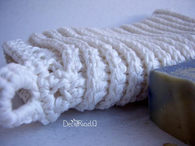 manopola da bagno di cotone all'uncinetto 4