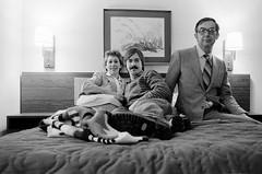Self portrait with parents, Toronto, 1982