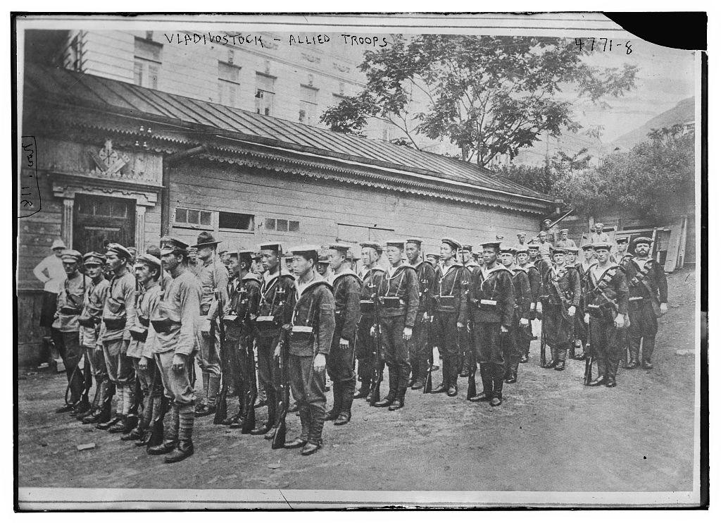 Vladivostock [i.e. Vladisvostok] -- Allied troops (LOC)
