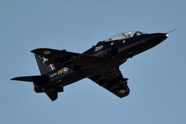 Royal Air Force British Aerospace Hawk T.1A XX230 at Newcastle Airport 5/9/16