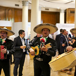 Mariachi band during evening cocktail