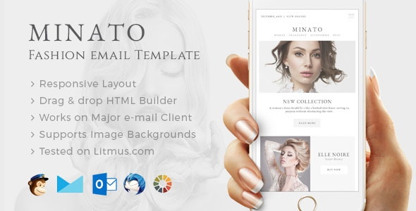 Minato v1.0.0 - Fashion Email Template + Builder Access