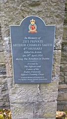 Photo of Arthur Charles Smith slate plaque