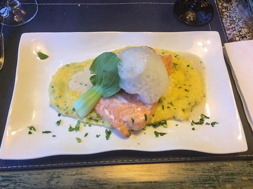 Punta Arenas: du saumon accompagné de polenta pour Miss V.