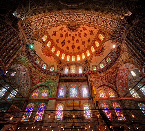 Peeking inside the Blue Mosque