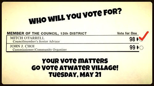 Atwater Village Votes! by Luis Lopez