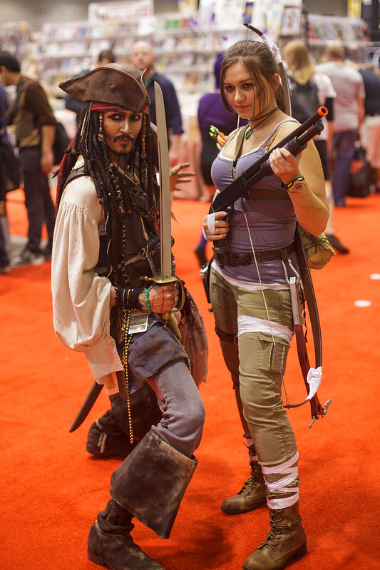 C2E2 - Captain Jack Sparrow and Katniss.jpg