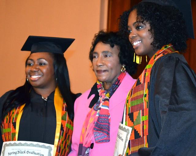 Mrs. Edna Rhambo at Black Graduation