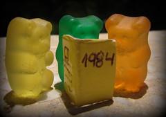 yellow, sweetness, gummi candy, macro photography,