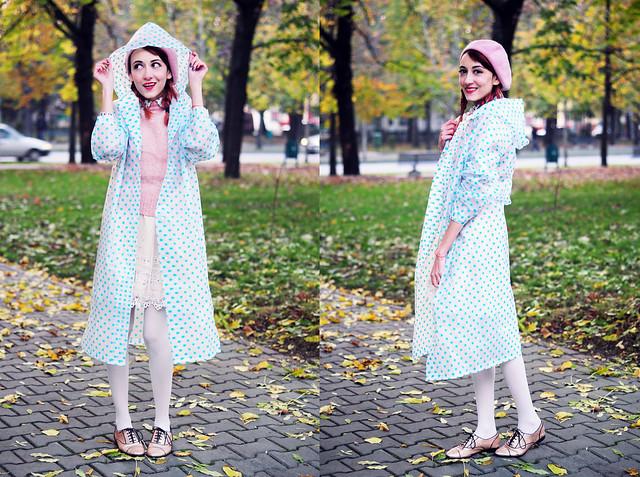 Polka dots raincoat