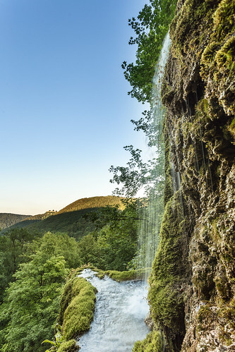 Waterfall with outlook