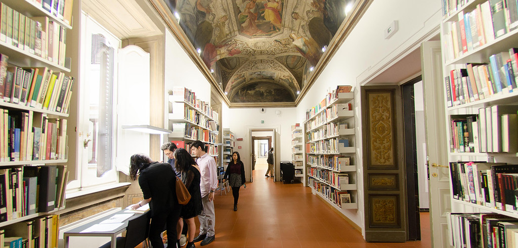 The library in the Palazzo Santacroce, Cornell in Rome's new home.  photo / provided