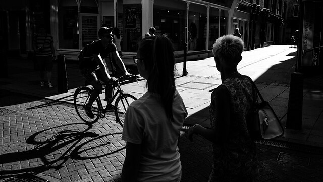 The bicycle - Cambridge, England - Black and white street photography