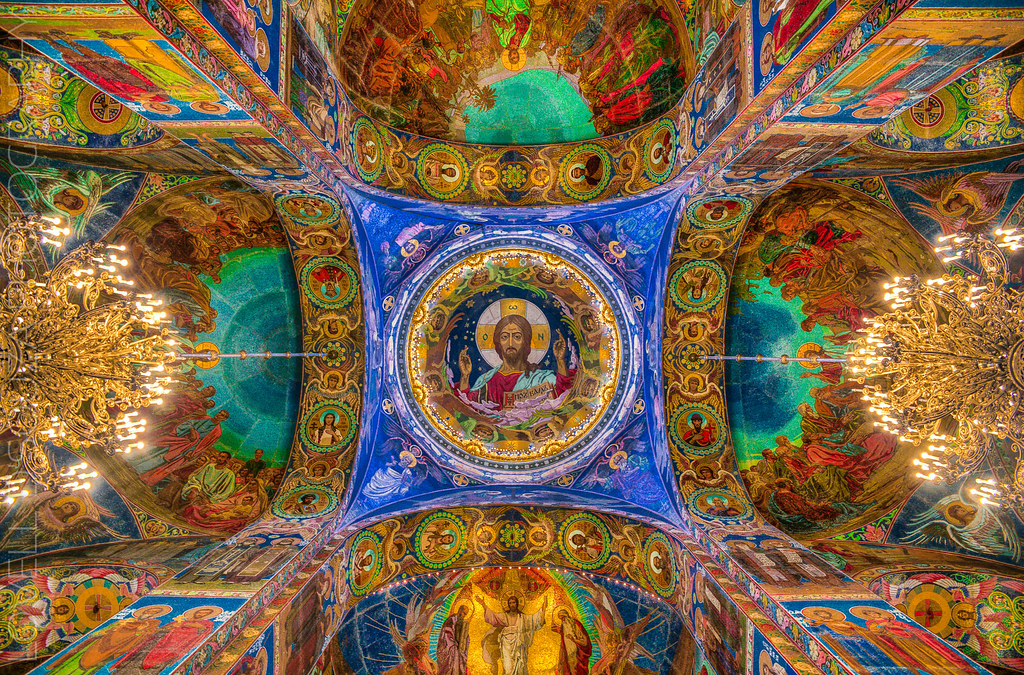 The Ceiling of the Church of the Savior on Spilled Blood