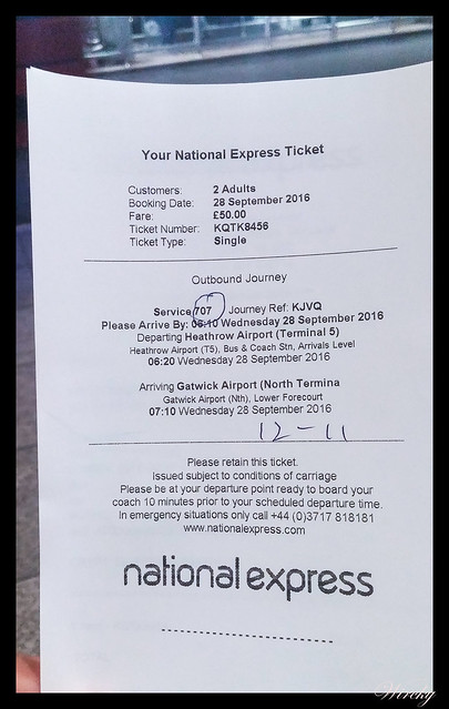 Viajar aeropuerto Heathrow Gatwick - Tickets National Express de Heathrow a Gatwick
