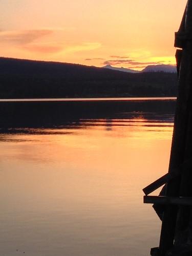 sunset water bc britishcolumbia denmanisland straightofgeorgia baynessound iphone4s