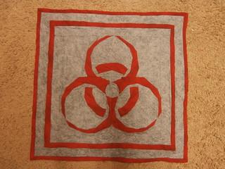 biohazard wall quilt