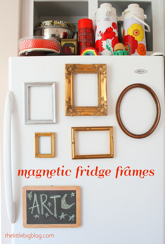 Reuse Roundup: DIY Magnetic Fridge Frames | Little Big