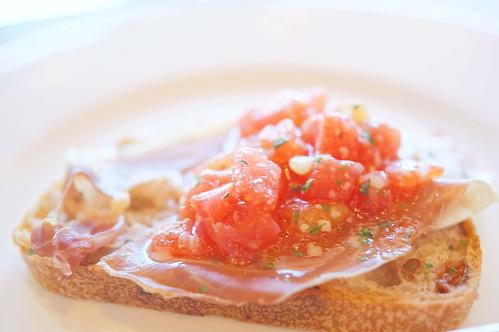 ham, tomato marinated
