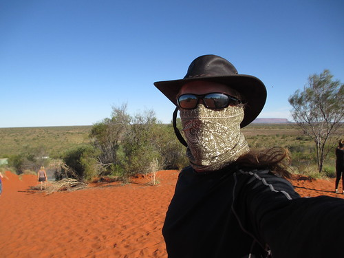 Protected from flies in the Red Centre