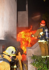 Los Angeles Firefighters Burned while Battling Stubborn Blaze in Three-Story Sherman Oaks House