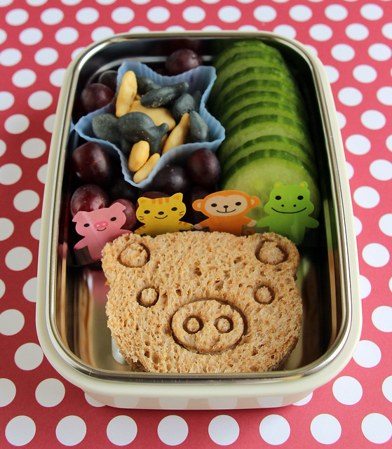 Preschool Piggy Star Bento #447