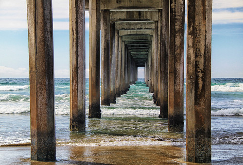 Under the Pier at La Jolla Shores