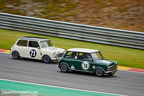 A Pair of Mini Coopers by autoidiodyssey