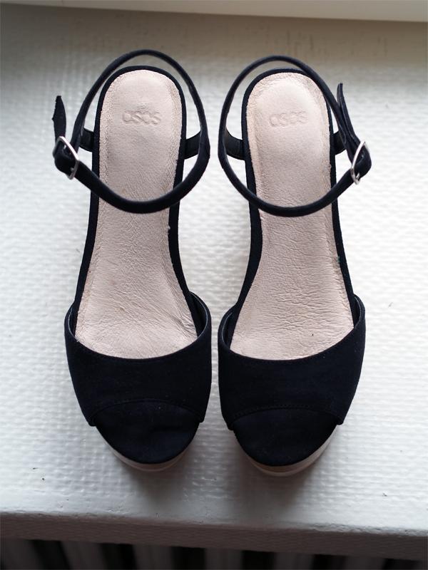 asos wedge heel wooden