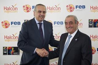 Los presidentes de la FEB y de Globalia.