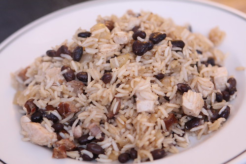 Rice and Beans with Bacon, Chorizo, and Chicken