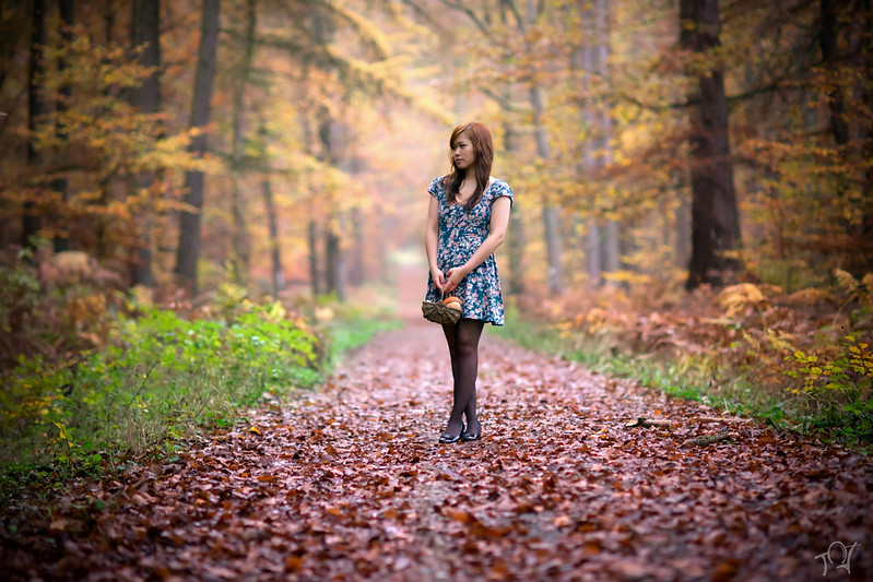 The autumn girl