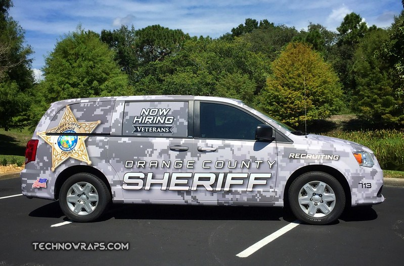 Vinyl wrapped police vehicle in Florida by TechnoSigns