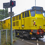Class 31465 Network Rail at Preston Dock Strand Road Level Crossing 01.08.2014 Side Shoot