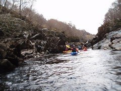 Happy Paddlers on a quieter section of the gorge Image