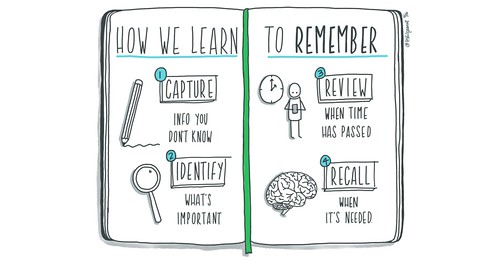 """Evernote Illustration #1: """"How We Learn To Remember"""""""