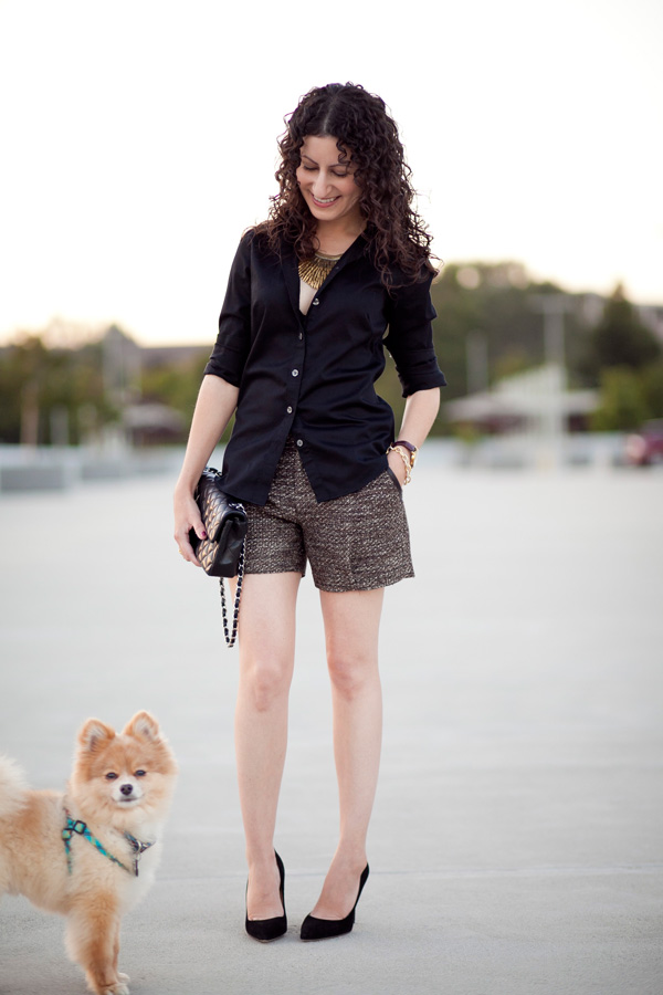 Wearing Black and Brown